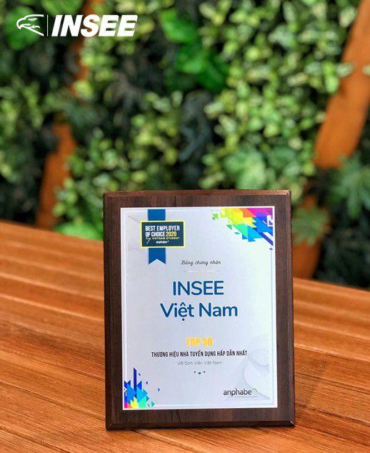Xi Măng Insee Việt Nam Vinh Dự Nhận Giải Thưởng Top 50 Thương Hiệu Nhà Tuyển Dụng Hấp Dẫn Nhất Với Sinh Viên Việt Nam Năm 2020