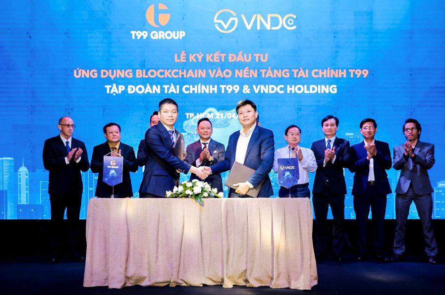 Hợp Tác đầu Tư ứng Dụng Blockchain Vào Nền Tảng Tài Chính T99 Giữ T99 Và Vndc Holding