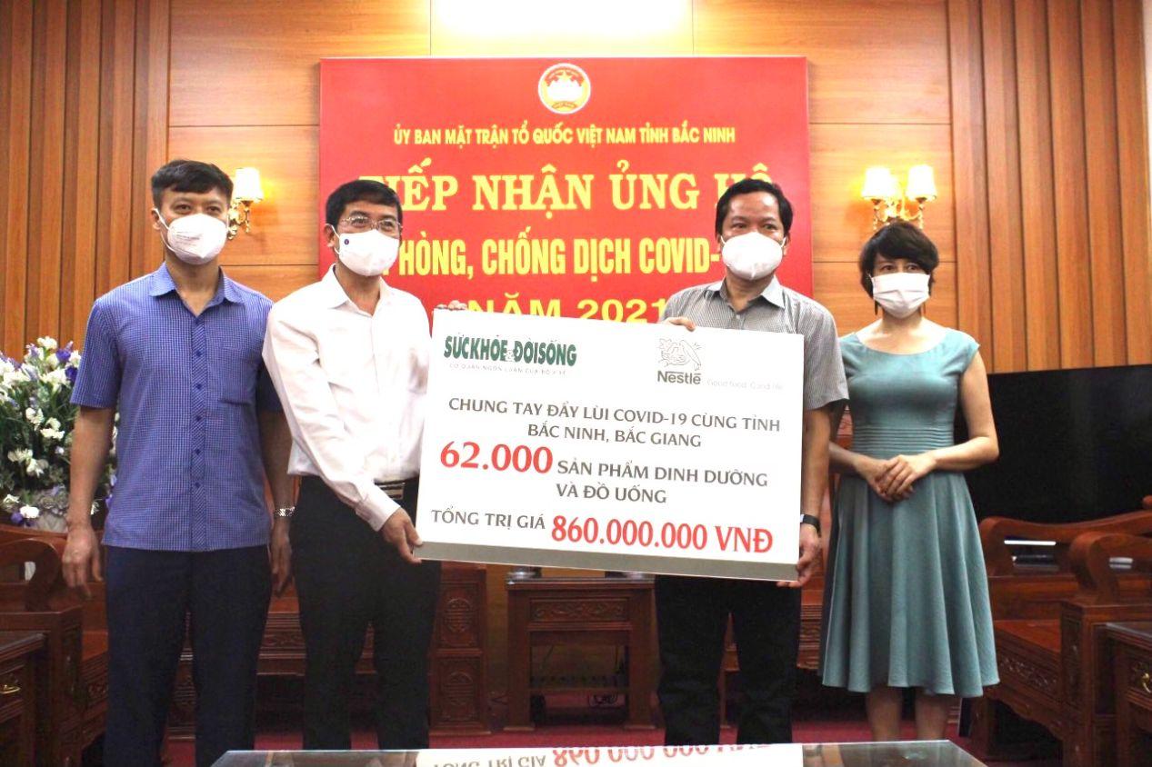Cong Ty Nestle Viet Nam Trao Tang 62.000 San Pham Dinh Duong Tri Gia 860 Trieu Dong Chung Tay Cung Bac Ninh Chong Dich 1