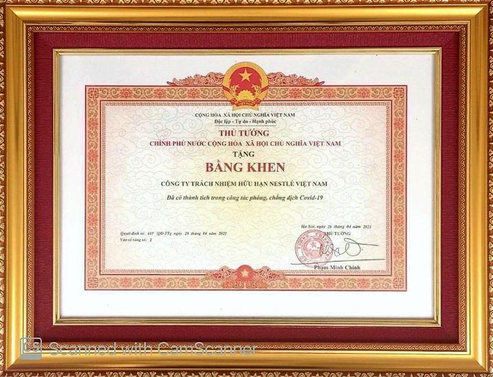 Cong Ty Da Vinh Du Nhan Duoc Bang Khen Cua Thu Tuong Pham Minh Chinh Vi Da Co Thanh Tich Trong Cong Tac Phong Chong Dich Covid 19..jfif